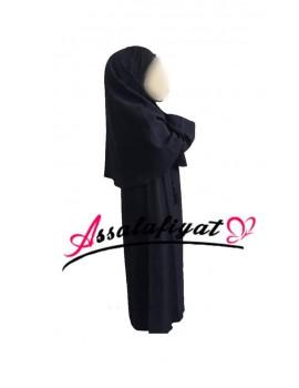 Ensemble Abbaya pompon + Hijab fille