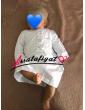 Qamis bébé blanc à col Ajyad