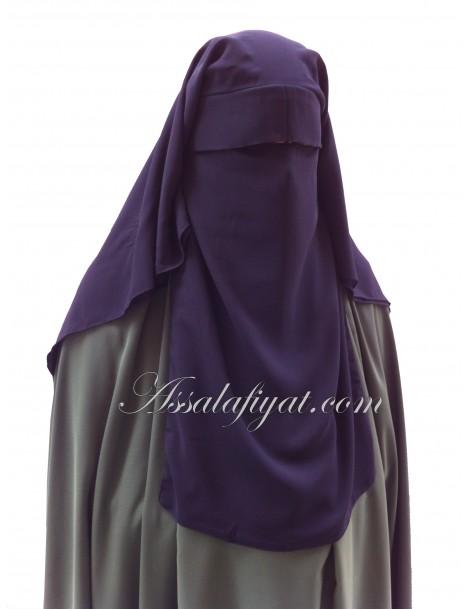 "Niqab casquette ""Rissala"" 3 voiles"